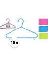 Plastic kledinghangers 18 delig