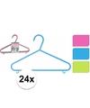Plastic kledinghangers 24 delig