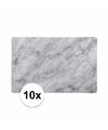 Plastic placemat marmer grijs 10 stuks