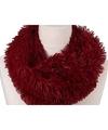 Pluche col sjaal rood 80 cm voor volwassenen