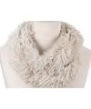 Pluche col sjaal wit 80 cm voor volwassenen