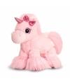 Pluche eenhoorn knuffel licht roze 18 cm