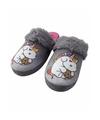 Pluche grijze eenhoorn dames pantoffels mt 38 39