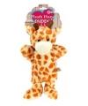 Pluche handpop giraf 21 cm