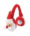 Pluche kerstman oorwarmers voor volwassenen