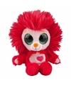 Pluche leeuw knuffel met geluid 20 cm