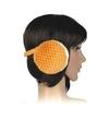 Pluche oorwarmers oranje voor dames