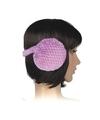 Pluche oorwarmers paars voor dames