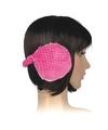 Pluche oorwarmers roze voor dames