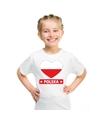Polen hart vlag t shirt wit jongens en meisjes