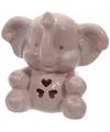 Porseleinen spaarpot roze olifant 10 cm