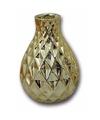 Porseleinen vaas goud ruit 15 cm