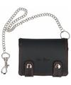 Portemonnee portefeuille zwart met ketting 12 4 cm