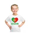 portual hart vlag t shirt wit jongens en meisjes