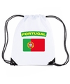 Portugal nylon rugzak wit met portugese vlag