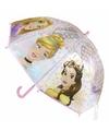 Prinsessen kinder paraplu roze