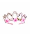 Prinsessen kroontje zilver voor dames