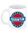 Quentin naam koffie mok beker 300 ml