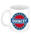 Quincey naam koffie mok beker 300 ml