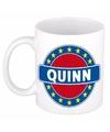 Quinn naam koffie mok beker 300 ml