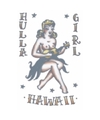 Realistische hula meisje tattoo 1 vel