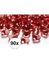 Rode decoratie hartjes diamantjes 90 stuks