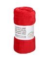 Rode fleece deken 150 x 200 cm