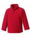 Rode fleece trui voor meisjes