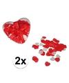 Rode hartjes bad confetti 40 gram