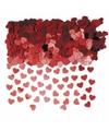 Rode hartjes confetti 2 zakjes