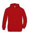 Rode katoenmix sweater met capuchon voor jongens