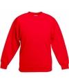 Rode katoenmix sweater voor meisjes