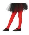 Rode panty 15 denier voor meisjes