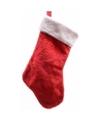 Rode pluche kerstsok 40 cm