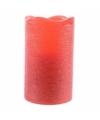 Rode waskaars warm wit led 10 cm