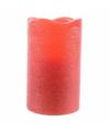 Rode waskaars warm wit led 17 5 cm