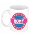 Romy naam koffie mok beker 300 ml