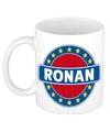Ronan naam koffie mok beker 300 ml