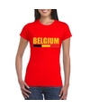 Rood belgium supporter shirt dames