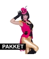 Roze accessoires slipjas inclusief roze hoedje