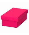 Roze cadeaudoosje 13 cm rechthoekig
