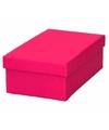 Roze cadeaudoosje 15 cm rechthoekig