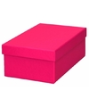Roze cadeaudoosje 17 cm rechthoekig