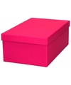Roze cadeaudoosje 23 cm rechthoekig
