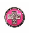 Roze chunk met kruis 1 8 cm