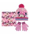 Roze minnie mouse winterset voor meisjes