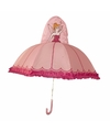 Roze prinses paraplu voor meisjes 45 cm