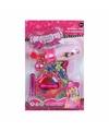 Roze speelgoed fohn met accessoires voor meisjes