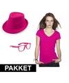 Roze verkleed set voor dames