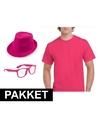 Roze verkleed set voor heren
